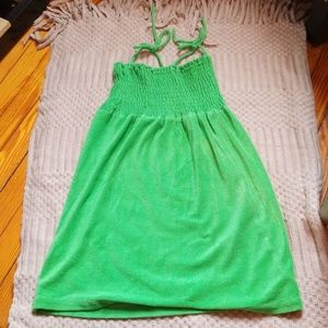 Green Sleeveless Cover Up Dress Size M/L